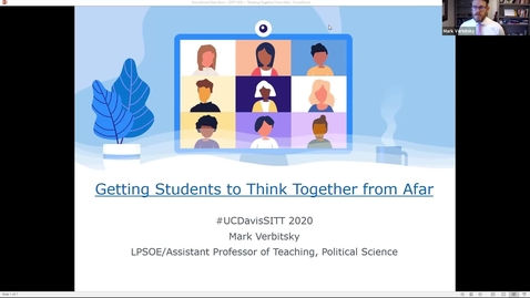 Thumbnail for entry SITT- Getting Students to Think Together from Afar - Dr. Mark Verbitsky