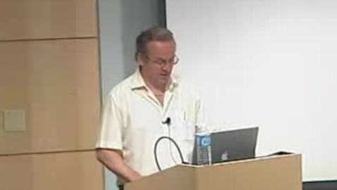 Thumbnail for entry Storer Lecture - Andras Nagy 05-08-2007
