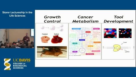 Thumbnail for entry Storer Lecture - David Sabatini 5-12-15