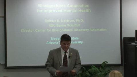Thumbnail for entry Engineering Distinguished Lectures: Deirdre R Meldrum 5-3-12