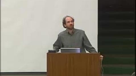 Thumbnail for entry Storer Lecture - Cynthia Kenyon 01-24-2006