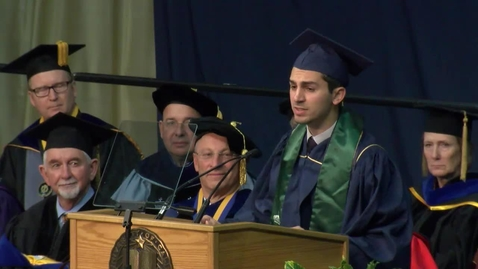 Thumbnail for entry 2016 Fall Commencement Student Speaker Ignacio Cortina