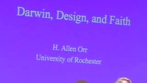 Thumbnail for entry Storer Lecture - Allen Orr 04-20-2009