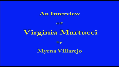 Thumbnail for entry Virginia Martucci