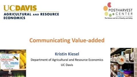 Thumbnail for entry Communicating Value-added (Kiesel)
