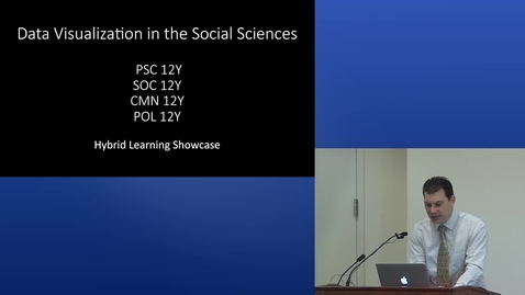 Thumbnail for entry Data Visualization in the Social Sciences | 2015 UC Davis Online and Hybrid Learning Showcase
