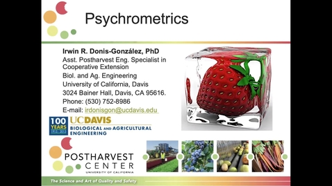 Thumbnail for entry Demonstration - Psychrometrics (Donis-Gonzalez)