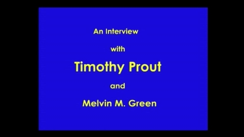 Thumbnail for entry Timothy Prout
