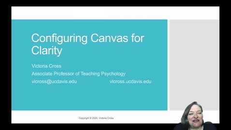 Thumbnail for entry SITT 2020 Faculty Talk - Configuring Canvas for Clarity