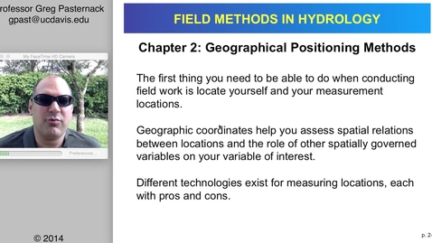 Thumbnail for entry HYD151: Geographical Positioning Methods