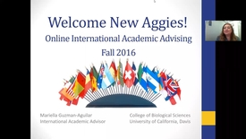 Thumbnail for entry First-Year International Student Webinar - College of Biological Sciences July 6, 2016