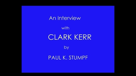 Thumbnail for entry Clark Kerr