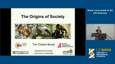 Thumbnail for entry Storer Lecture - Tim Clutton-Brock  4-15-15