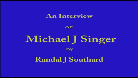 Thumbnail for entry Michael Singer