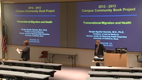 "Thumbnail for entry Book Project 2012-13: Transnational Migration & Health"": 11-28-12"