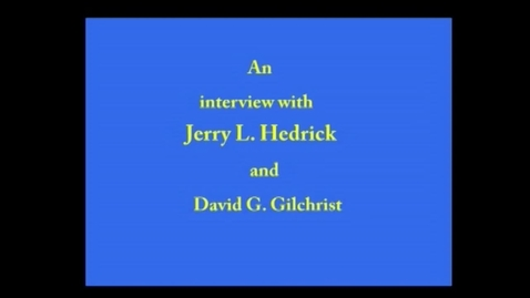 Thumbnail for entry Jerry Hedrick