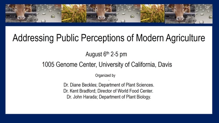 Addressing Public Perceptions of Modern Agriculture