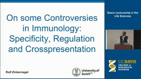 Thumbnail for entry Storer Lecture - Rolf Zinkernagel 11-20-14