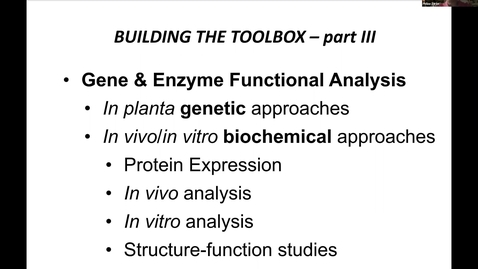 Thumbnail for entry PBI298 Lecture#8 Gene & Enzyme Functional Studies