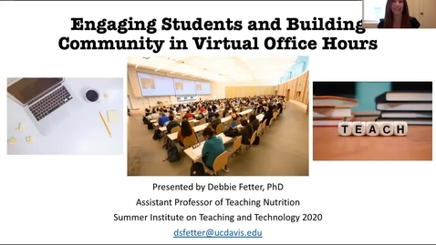 Thumbnail for entry SITT 2020 Faculty Talk - Engaging Students and Building Community in Virtual Office Hours