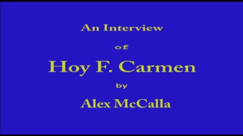 Thumbnail for entry Hoy Carmen