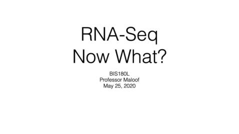 Thumbnail for entry BIS180L Lecture 12 GO enrichment
