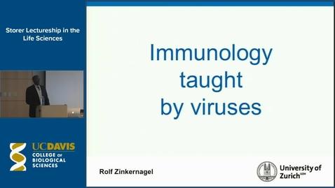 Thumbnail for entry Storer Lecture - Rolf Zinkernagel 11-19-14