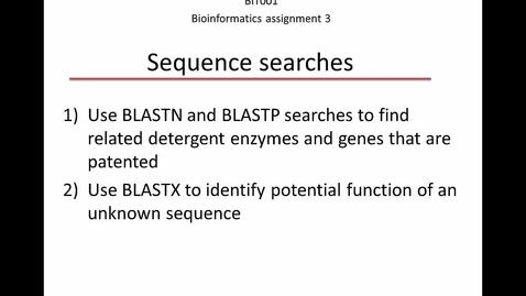 Thumbnail for entry Bioinformatics assignment 3__2020