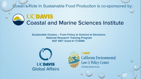 Thumbnail for entry Ocean's Role in Sustainable Food Production - Frank Asche - September 16, 2019