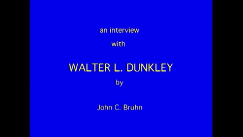 Thumbnail for entry Walter Dunkley
