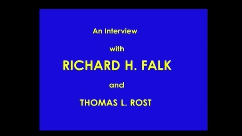 Thumbnail for entry Richard Falk