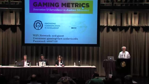 Thumbnail for entry Gaming Metrics - University Rankings:  Game or Cooking? Panel (02-04-2016)