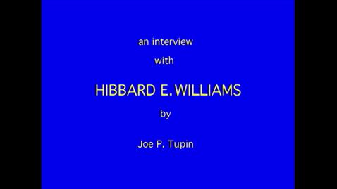 Thumbnail for entry Hibbard Williams