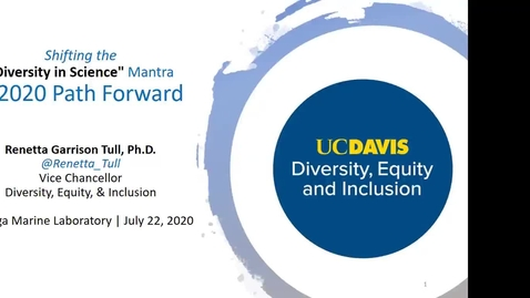 "Thumbnail for entry BML - Dr. Renetta Tull: Shifting the ""Diversity in Science"" Mantra - A 2020 Path Forward"