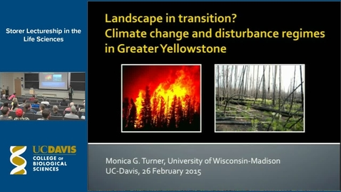Thumbnail for entry Storer Lecture - Monica Turner 2-26-15