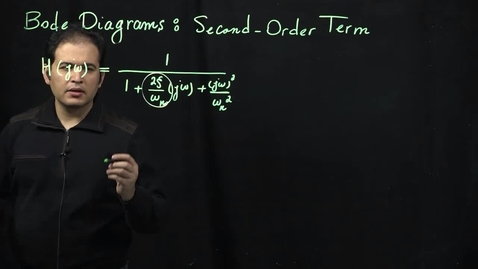 Thumbnail for entry Bode Diagrams (Part 7): Second-Order Terms (continued)