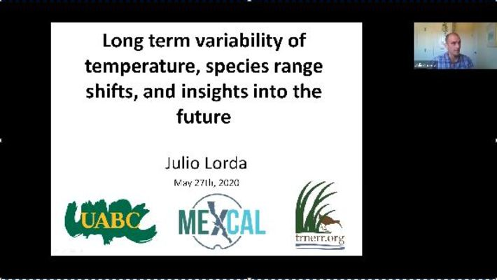 BML - Dr. Julio Lorda: Long term variability of temperature, species range shifts, and insights into the future