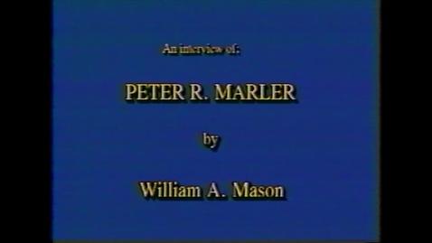 Thumbnail for entry Peter Marler