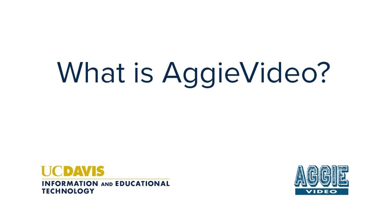 What is AggieVideo?