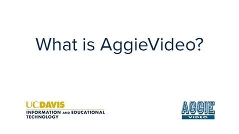Thumbnail for entry What is AggieVideo?