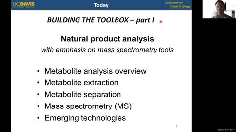 Thumbnail for entry PLB298 Lecture#5-METABOLITE ANALYSIS