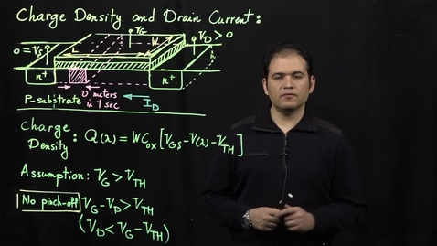Thumbnail for entry MOS Transistors (Part 4: Drain Current Equation)