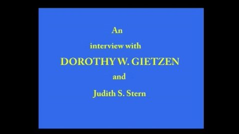 Thumbnail for entry Dorothy Gietzen