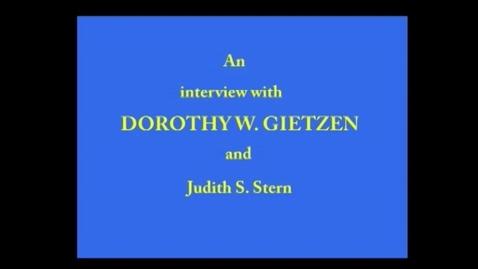 Thumbnail for entry Dorothy Gietzen