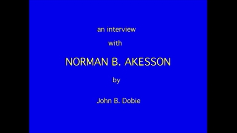 Thumbnail for entry Norman Akesson
