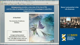 Thumbnail for entry Storer Lecture - Jill Banfield 5-7-18