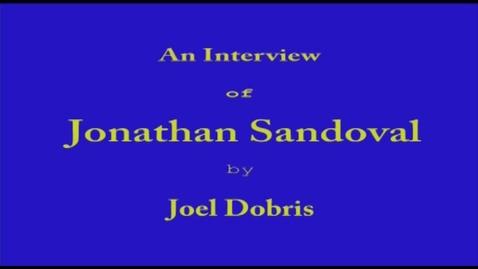 Thumbnail for entry Jon Sandoval