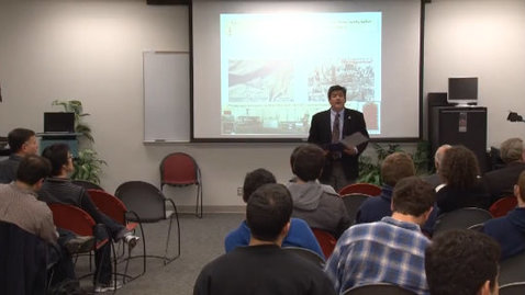Thumbnail for entry Engineering Distinguished Lectures: Ares Rosakis 01-24-12