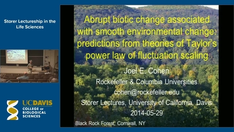 Thumbnail for entry Storer Lecture - Joel Cohen 5-29-14