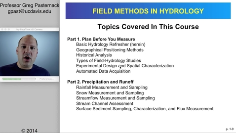 Thumbnail for entry HYD151: Introduction to Field Methods in Hydrology, part 2